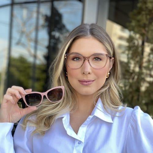 oticagriss oculos clip on em acetato gatinho nude 228 4