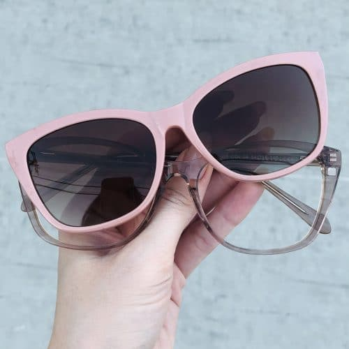 oticagriss oculos clip on em acetato gatinho nude 228