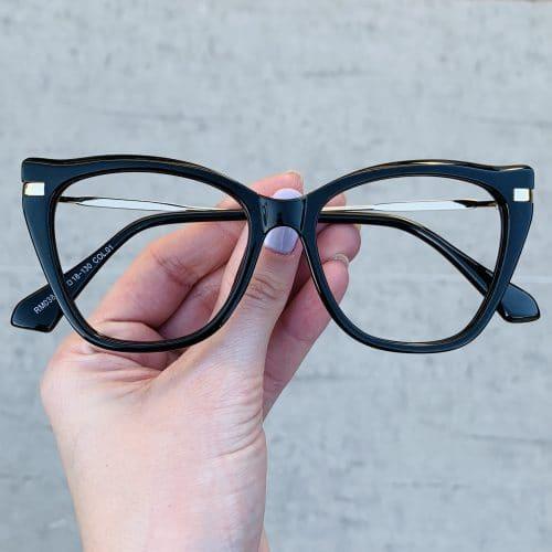 oticagriss oculos de grau gatinho preto 238
