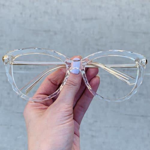 oticagriss oculos de grau gatinho transparente 240