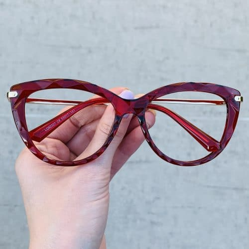 oticagriss oculos de grau gatinho vermelho 240