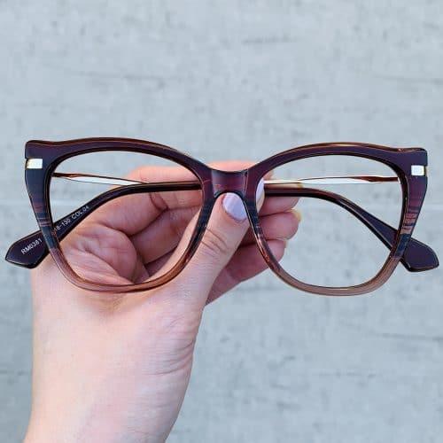 oticagriss oculos de grau gatinho vinho 238