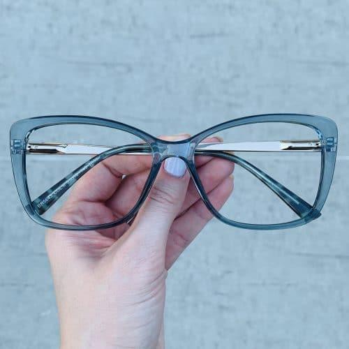 oticagriss oculos de grau quadrado azul 242