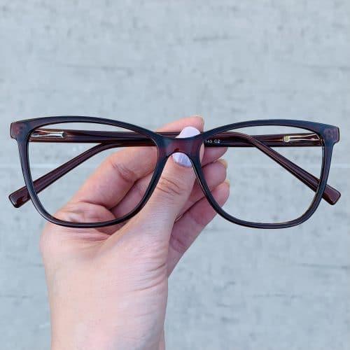 oticagriss oculos de grau quadrado marrom 234