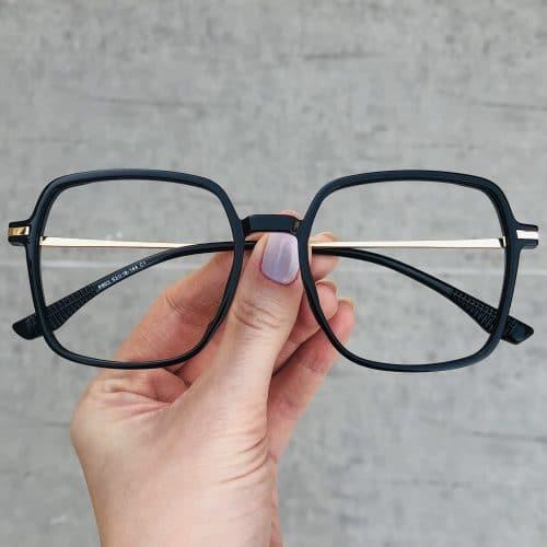 oticagriss oculos de grau quadrado preto 208