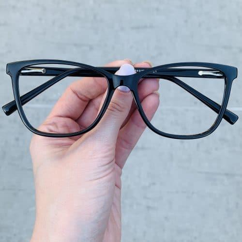 oticagriss oculos de grau quadrado preto 234