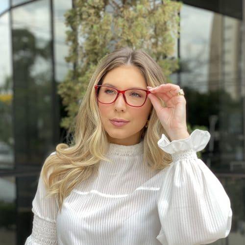 oticagriss oculos de grau quadrado vermelho 234 3